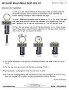 Plug In Seat Connector Kit Instructions