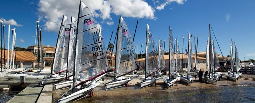 RS100 boats at Boat Locker